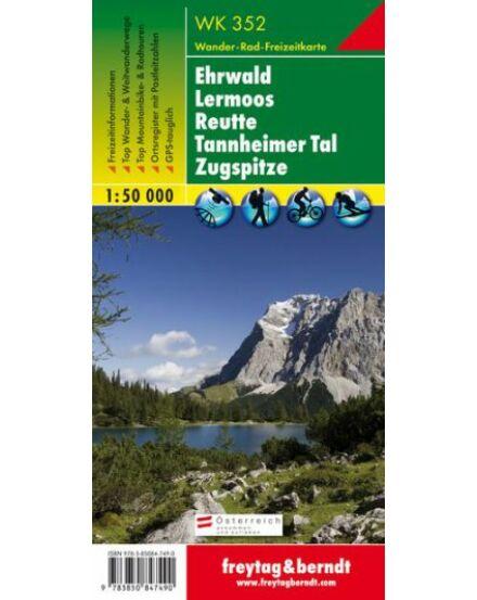 WK352 Ehrwald-Lermoos-Reutte turistatérkép