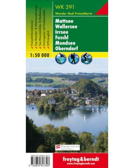 WK391 Mattsee-Wallersee Irrsee Fuschl Mondsee Oberndorf turistatérkép