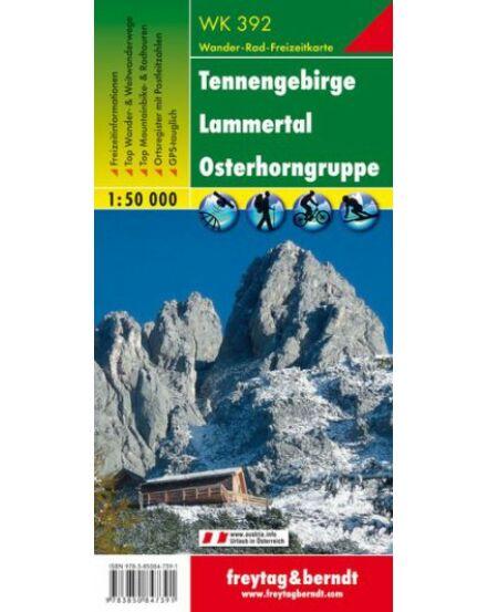 WK392 Tennengebirge-Lammertal turistatérkép