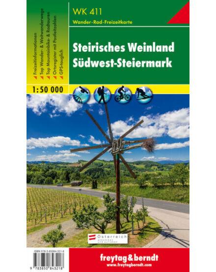 WK411 Steirisches Weinland turistatérkép