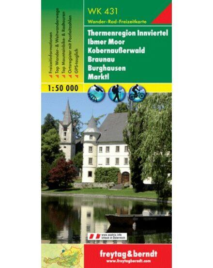 WK431 Thermenregion Innviertel Ibmer Moor, Kobernausserwald, Braunau turistatérkép