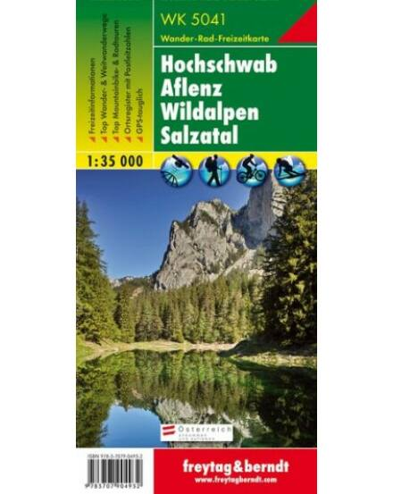 WK5041 Hochschwab-Aflenz-Wildalpen turistatérkép