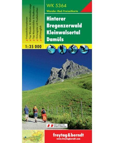 WK5364 Hinterer Bregenzerwald turistatérkép