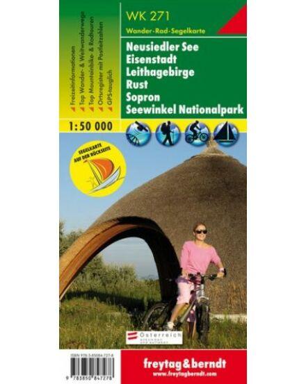 WK271 Neusiedler See Eisenstadt Leithagebirge Rust Sopron Seewinkel NP turistatérkép