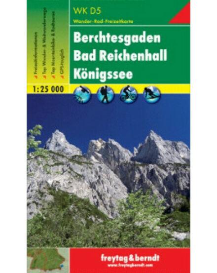 WKD5 Berchtesgaden Bad Reichenhall Königssee turistatérkép