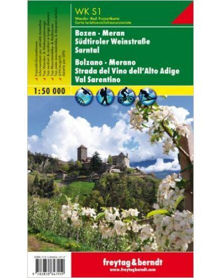 WKS01 Bolzano-Merano és körny. Alto Adige borút (Dél-Tirol) turistatérkép