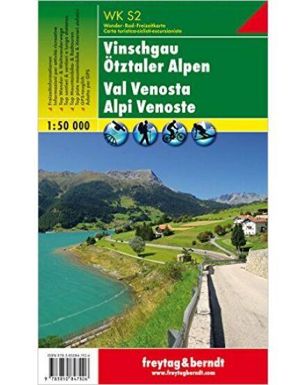 WKS2 Vinschgau-Ötztali Alpok turistatérkép