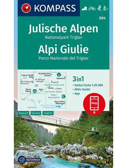 K 064 Júliai-Alpok/Triglav turistatérkép