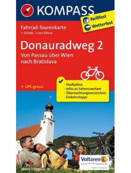 K 7004 Duna menti kerékpárút térkép 2. (Passau-tól Bécsen keresztül Pozsonyig)