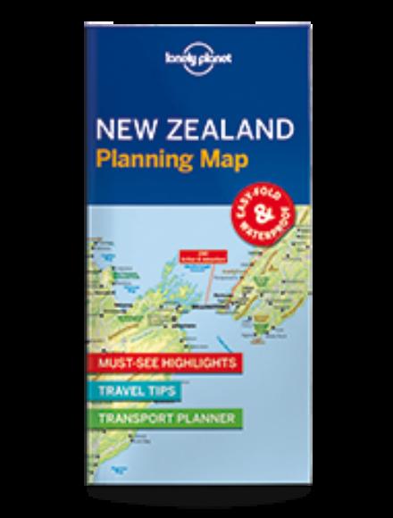 Új-Zéland laminált térkép