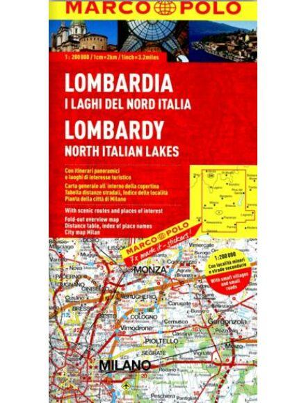 Olaszország résztérkép- Lombardia