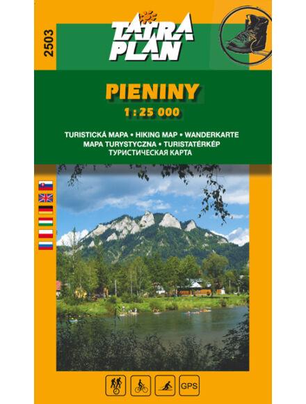 TP2503 Pieninek Nemzeti Park turistatérkép