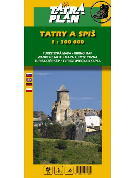 TP Tátra és a Szepes turistatérkép