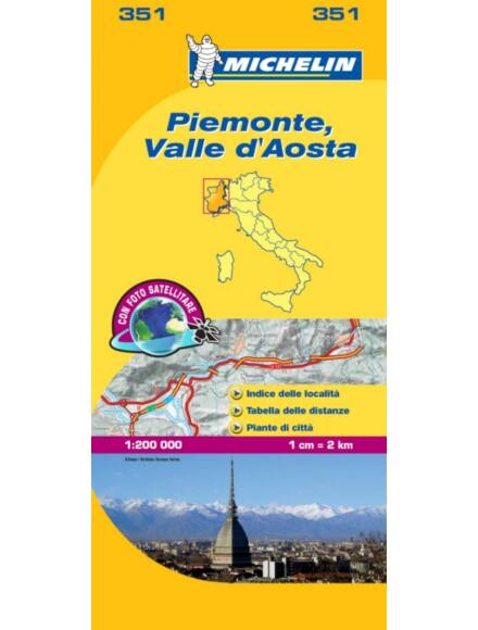 Cartographia  - Piemonta, Vallee Aoste 351 Michelin