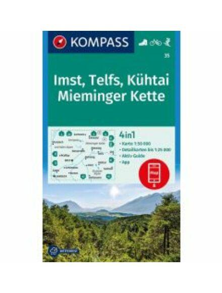 Cartographia  - KOMP 35 Imst, Telfs, Kühtai, Mieminger Kette turistatérkép