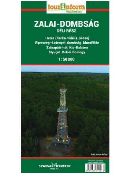 Zalai-dombság déli rész turistatérkép