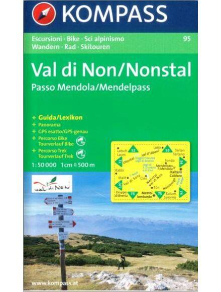 Cartographia  - K 95 Val di Non / Passo Mendola / Maddalene turistatérkép