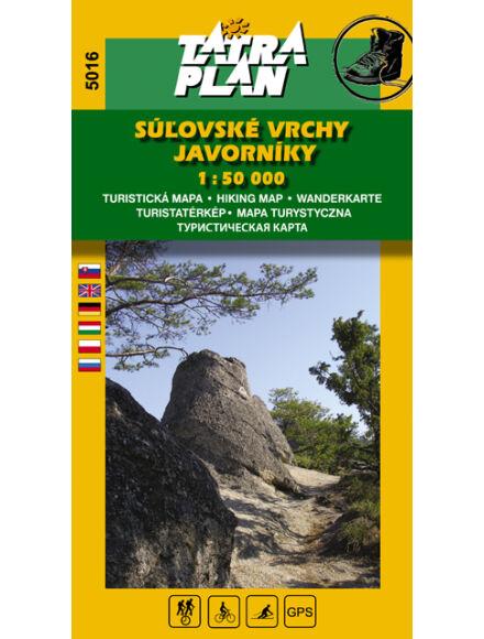TP5016 Szulyó-hegység, Jávornik-hegység turistatérkép