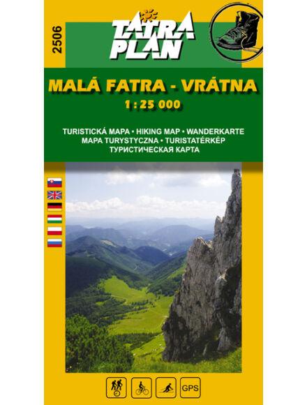 TP2506 Kis-Fátra, Vrátna turistatérkép