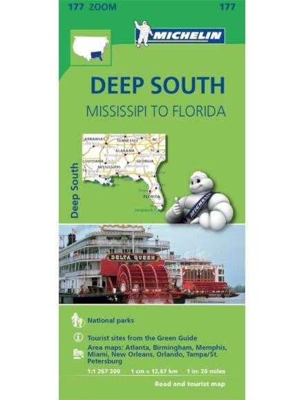 Cartographia  - USA Zoom - Missisipitől Floridáig (Deep South) térkép 0177 (2014)