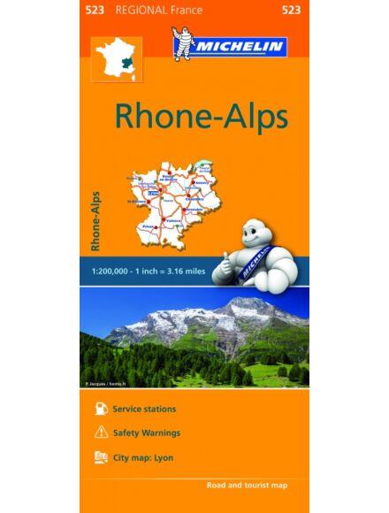 Cartographia  - Rhone-Alpok régiótérkép (523)