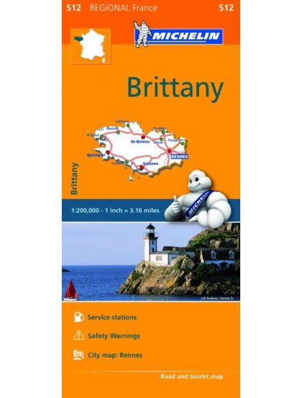 Cartographia  - Bretagne régiótérkép (512)
