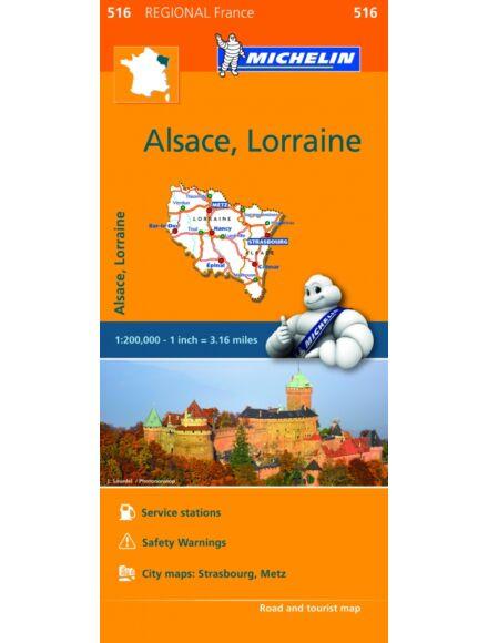 Cartographia  - Elzász , Lotaringia régiótérkép (516)