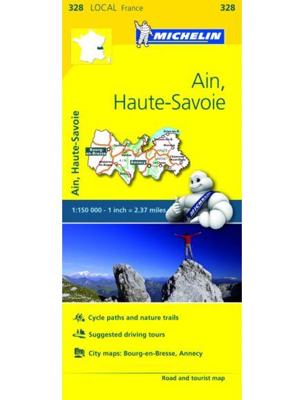 Cartographia  - Ain, Haute-Savoie résztérkép - Michelin 328
