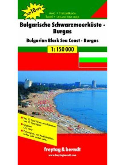 Cartographia  - Bolgár tengerpart - Burgasz térkép