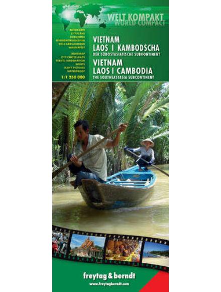 Cartographia  - Vietnám-Laosz-Kambodzsa World Compact térkép