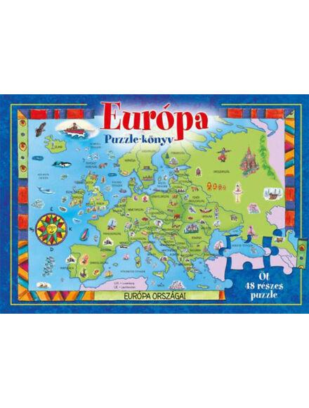 Európa - puzzle könyv