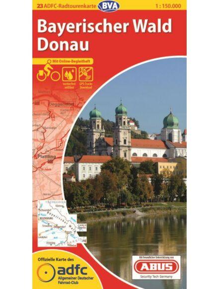 Bajor-erdő, Duna - németországi kerékpáros túratérkép