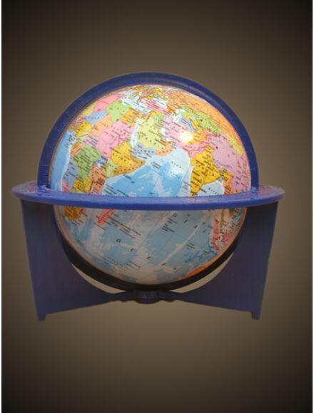 Földgömb - politikai, iskolai, 16 cm átmérőjű, műanyagtalpas