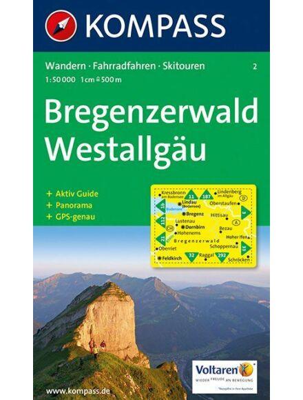 Cartographia  - K 2 Bregenzerwald, Westallgäu turistatérkép