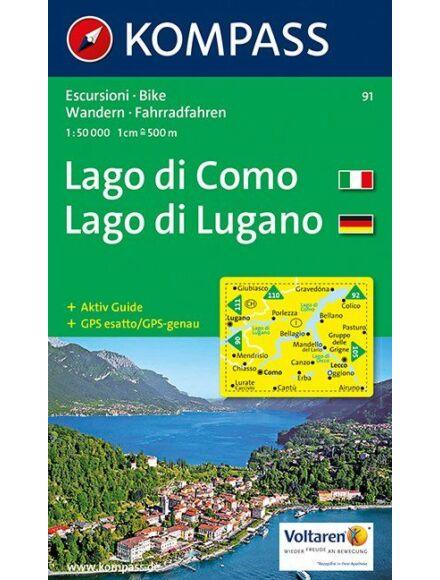Cartographia  - Lago di Como /Lago di Lugano turistatérkép