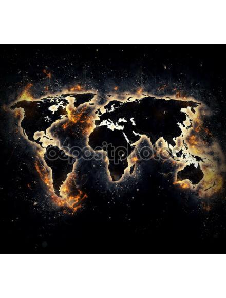 Világtérkép Égő - Keretes