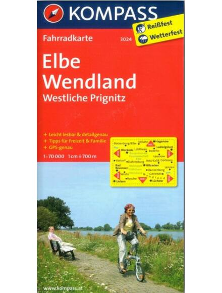 Cartographia  - K 3024 Elba, Wendland, Nyugat-Prignitz kerékpáros térkép