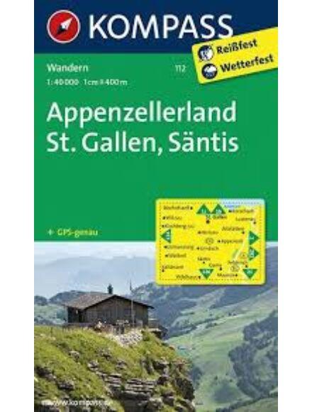 Cartographia  - KOMP 112 Appenzellerland turistatérkép