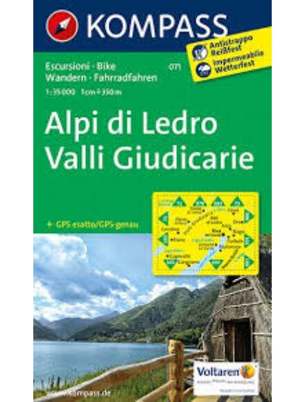 Cartographia  - K 071 Alpi di Ledro térkép
