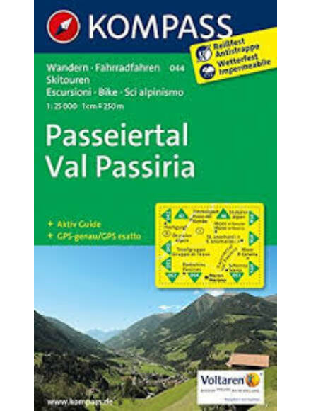 Cartographia  - K 044 Passeiertal, Val Passiria turistatérkép