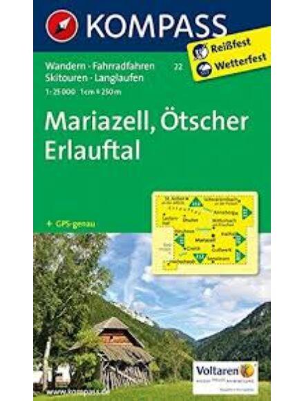 Cartographia  - K 22 Mariazell, Ötscher, Erlauftal turistatérkép