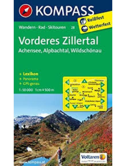 Cartographia  - K 28 Vorderes Zillertal, Alpbach, Rofan, Wildschönau turistatérkép