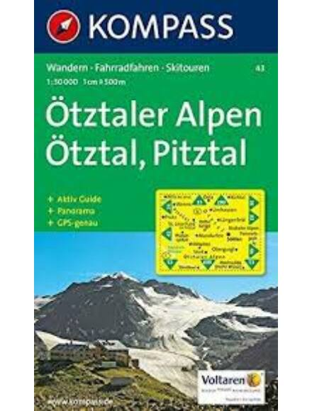 Cartographia  - K 43 Ötztaler Alpen, Ötzal, Pitzal turistatérkép