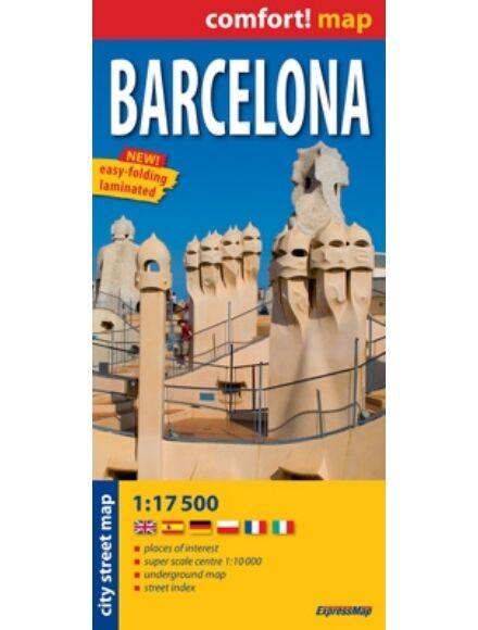 Barcelona térkép (laminált)