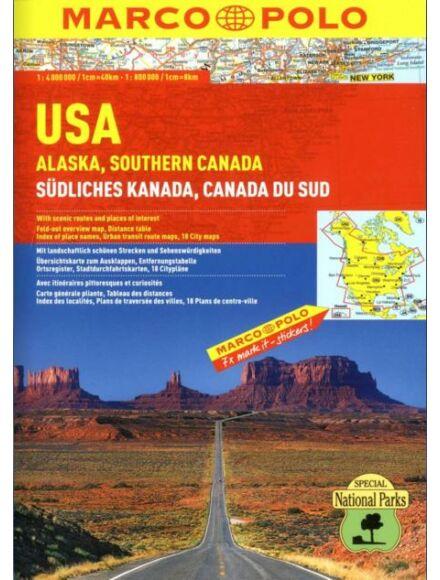 Cartographia  - USA, Alaszka, Dél-Kanada atlasz
