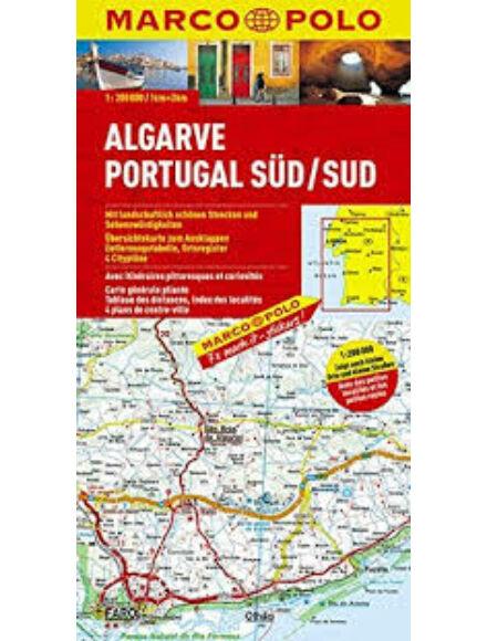 Algarve, Dél-Portugália térkép
