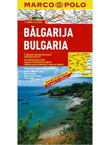 Bulgária térkép - Marco Polo