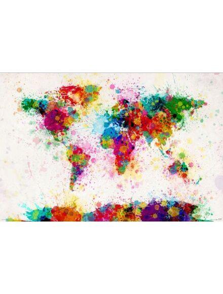 Színes világ falikép, keretes