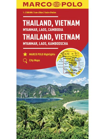 Cartographia  - Thaiföld, Vietnám, Laosz, Kambodzsa térkép
