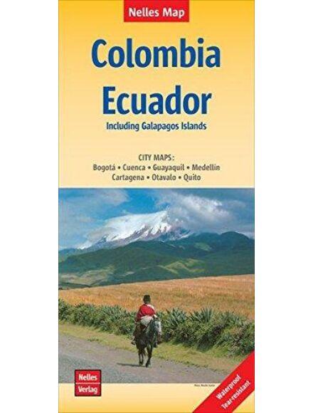 Kolumbia, Ecuador térkép